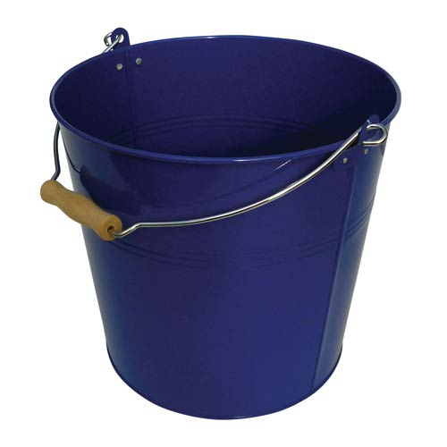 Organize It All Blue Metal Round Bucket