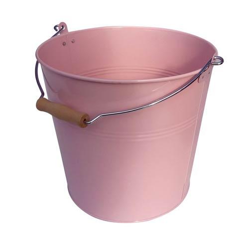 Organize It All Pink Metal Round Bucket