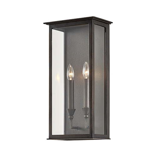 Chauncey Vintage Bronze Two-Light Wall Sconce