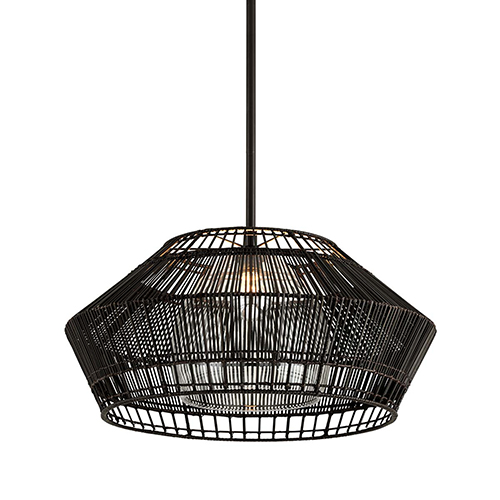 Punters Point Dark Espresso 28-Inch Pendant with Transparent Glass