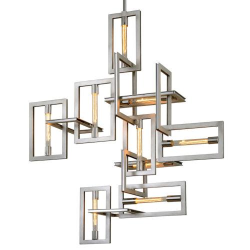 Enigma Silver Nine-Light Pendant