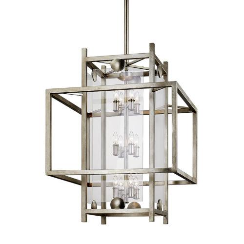 Crosby Antique Silver 12-Light Pendant