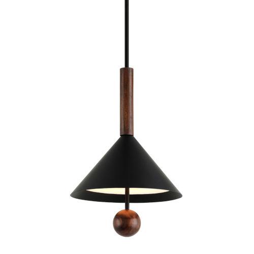 Ranger Black and Natural Acacia Three-Light Pendant