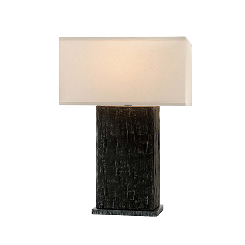 La Brea Anthracite Table Lamp with Linen Shade