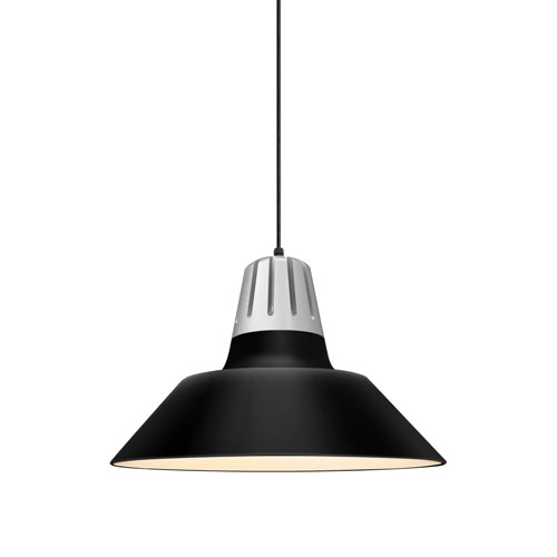 Heavy Metal Gloss Black 18-Inch One-Light Pendant