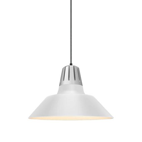 Troy RLM Lighting Heavy Metal Gloss White 18-Inch One-Light Pendant