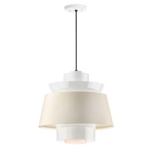 Aero Gloss White LED 14-Inch Pendant
