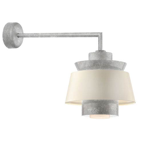 Aero Galvanized LED 14-Inch Outdoor Wall Sconce with 18-Inch Arm