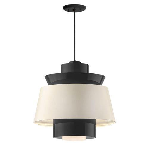 Aero Black LED 16-Inch Pendant