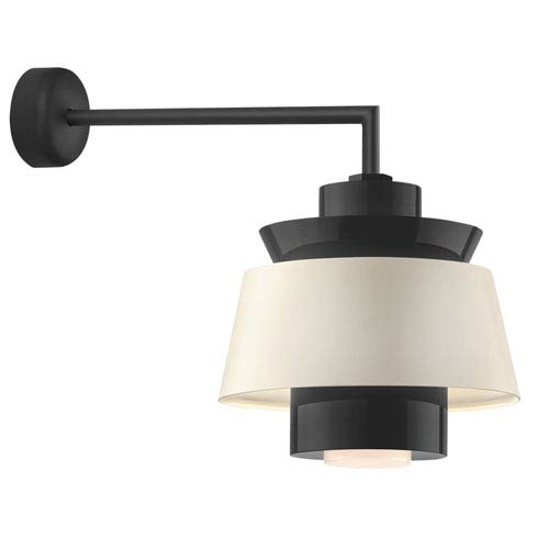 Troy RLM Lighting Aero Black LED 16-Inch Outdoor Wall Sconce with 18-Inch Arm