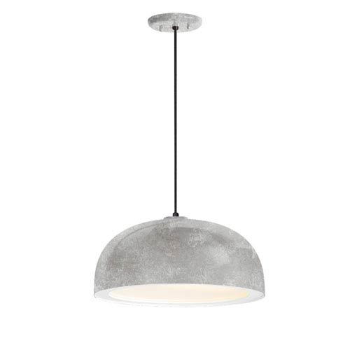 Dome Galvanized One-Light 14-Inch Outdoor Pendant