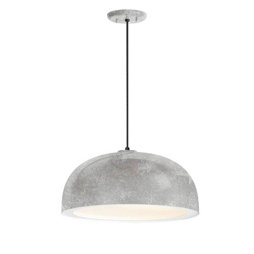 Dome Galvanized One-Light 16-Inch Outdoor Pendant