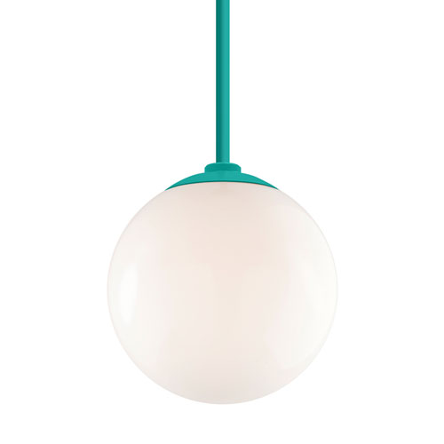 Globe Tahitian Teal 12-Inch One-Light Pendant