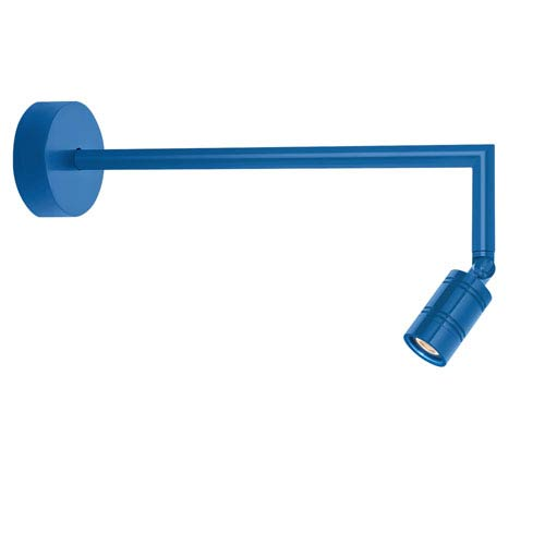 Bullet Head Blue LED Outdoor Miter Arm Wall Sconce