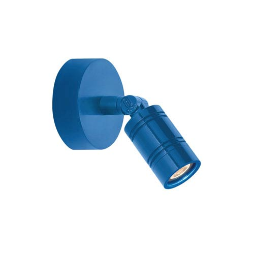 Bullet Head Blue LED Outdoor Monopoint Wall Sconce