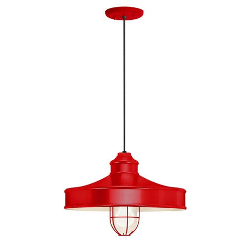 Troy Rlm Lighting Nostalgia Red One Light 14 Inch Outdoor Pendant