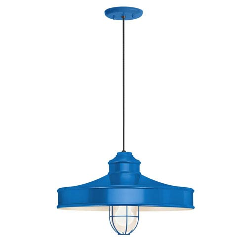 Nostalgia Blue One-Light 16-Inch Outdoor Pendant
