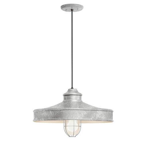 Nostalgia Galvanized One-Light 16-Inch Outdoor Pendant
