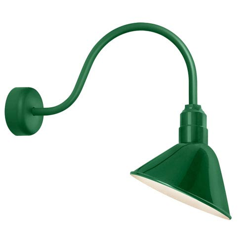 Troy Rlm Lighting Angle Reflector Hunter Green One Light 10 Inch Outdoor Wall Sconce With 23 Arm