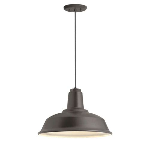 Troy RLM Lighting Heavy Duty Textured Bronze One-Light 14-Inch Outdoor Pendant