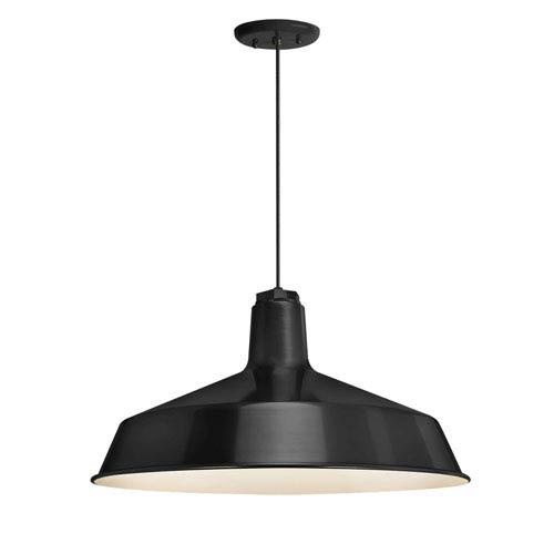 Standard Black One-Light Outdoor Pendant