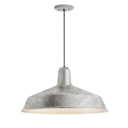 Standard Galvanized One-Light Outdoor Pendant