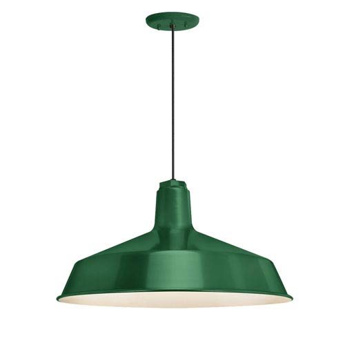 Standard Hunter Green One-Light Outdoor Pendant