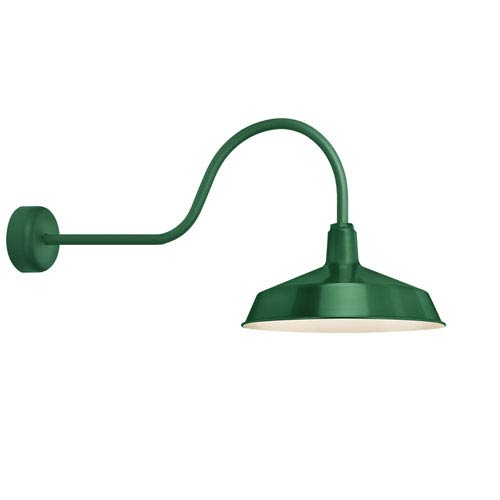 Standard Hunter Green One-Light Outdoor Wall Sconce with 30-Inch Arm