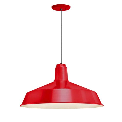 Standard Red One-Light Outdoor Pendant