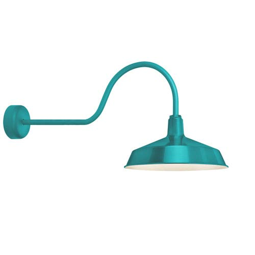 Standard Tahitian Teal One-Light Outdoor Wall Sconce 30-Inch Arm