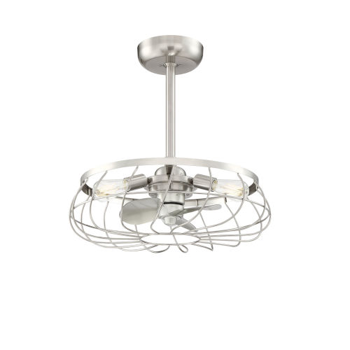 Fifth and Main Brushed Nickel 22-Inch Three-Light LED Ceiling Fan