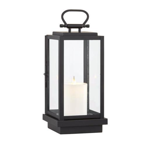 Stanton Black Six-Inch LED Outdoor Table Lantern