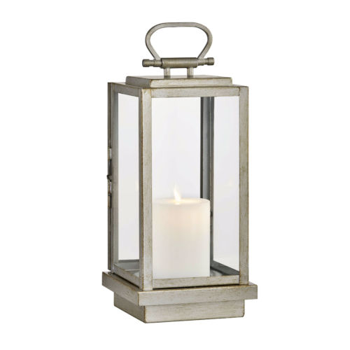 Stanton Champagne Silver Six-Inch LED Outdoor Table Lantern