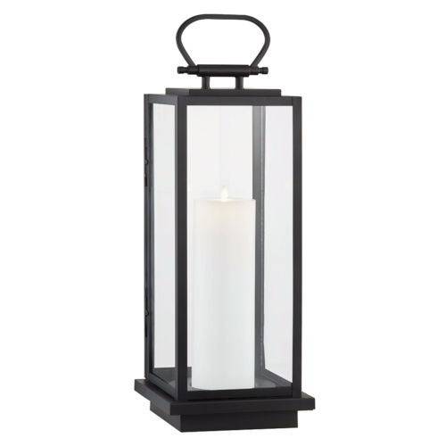 Stanton Black Nine-Inch LED Outdoor Floor Lantern
