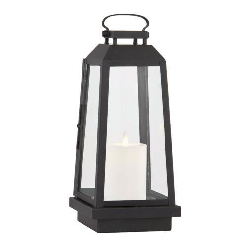 Edgewater Black Six-Inch LED Outdoor Table Lantern