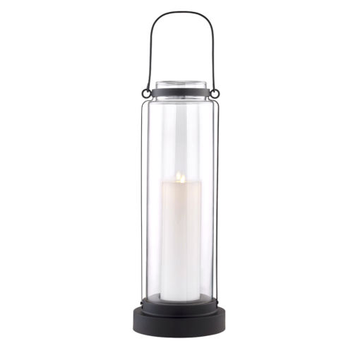 Fillmore Black Nine-Inch LED Outdoor Floor Lantern
