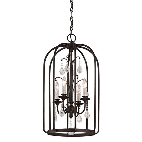 Aspen Aged Bronze Four-Light Chandelier