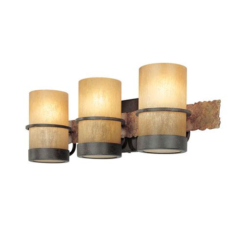 Bamboo Three-Light Bath Fixture