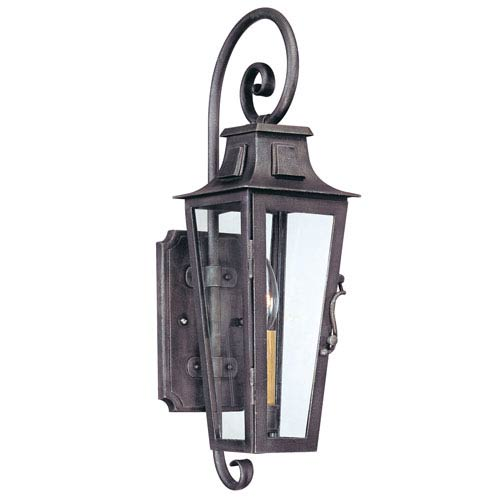 Aged Pewter French Quarter Small One-Light Wall Mount