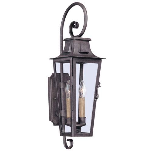 Troy Aged Pewter French Quarter Two-Light Wall Mount