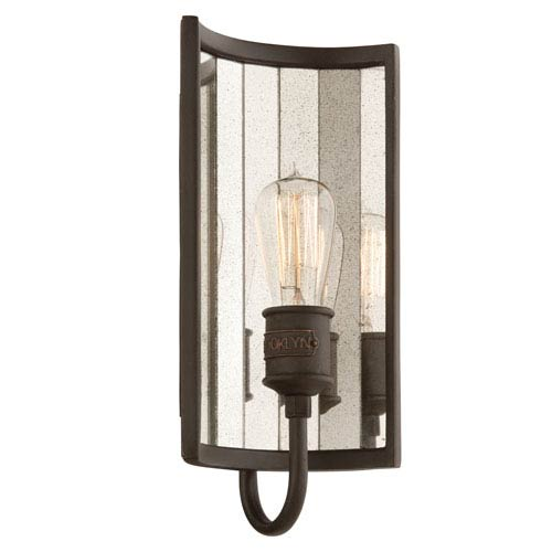 Bronze Brooklyn 7-Inch wide One-Light Wall Mount