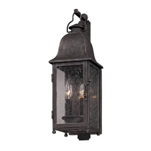 Aged Pewter Larchmont Two-Light Wall Mount