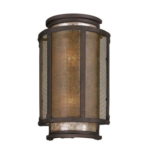 Troy Bronze Copper Mountain Large Two-Light Wall Mount
