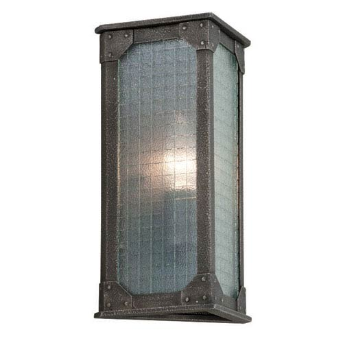 Troy Hoboken Aged Pewter One Light Wall Sconce