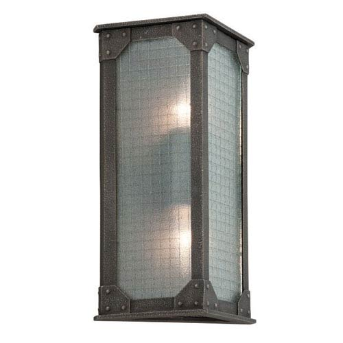 Troy Hoboken Aged Pewter Two Light Wall Sconce