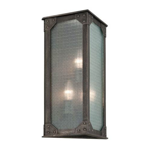Troy Hoboken Aged Pewter Three Light Wall Sconce