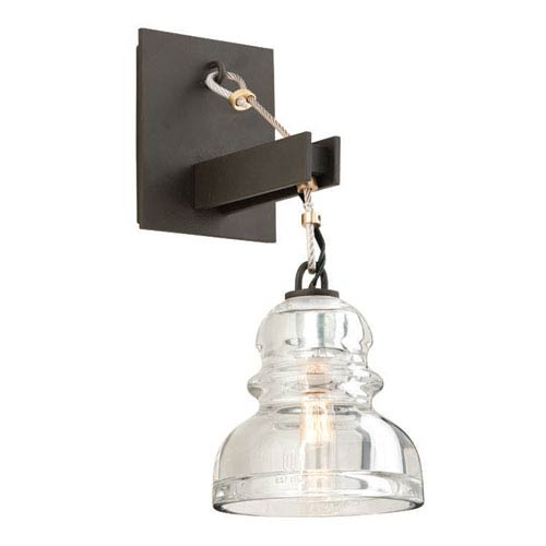 Menlo Park Deep Bronze One Light Wall Sconce