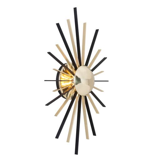 Troy Atomic Polished Brass and Matte Black LED Wall Sconce