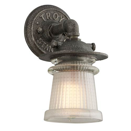 Pearl Street Charred Zinc One-Light Six-Inch Outdoor Wall Sconce