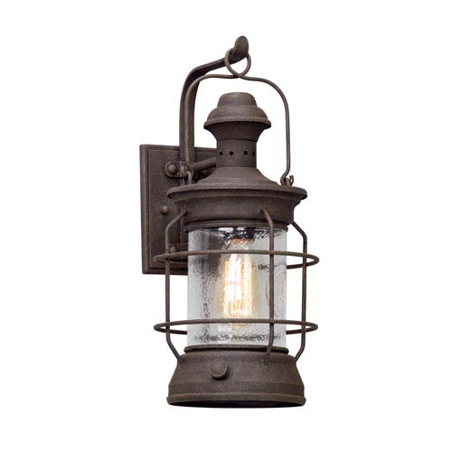 Atkins Centennial Rust 8-Inch One-Light Outdoor Wall Lantern